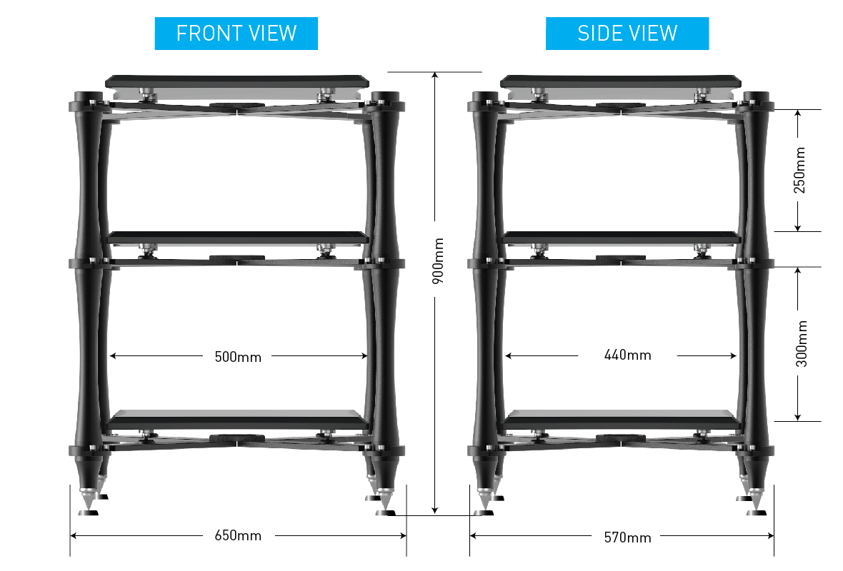 Audio Bastion XR-3 High-End Audio Rack stand